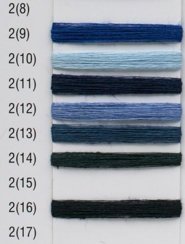 Hørgarn 2(13) Jeansblå frave