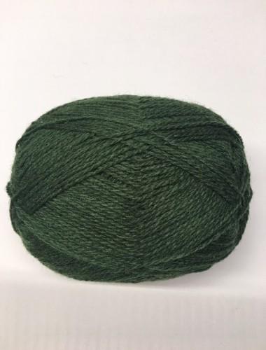 Uldgarn i dybt grøn farve 350