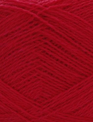 Uldgarn i hindbær rød farve...