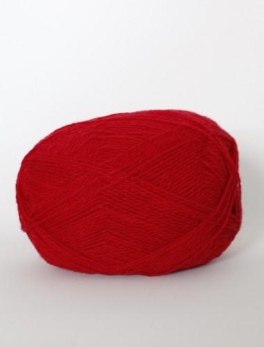 Uldgarn i klassisk rød...