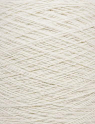 Strømpegarn 80%uld - 101 hvid