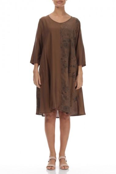 Silke-bambus kjole-tunika...