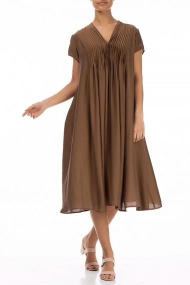 Kjole i silke - bambus med...