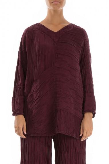 Tunika-bluse i silke-hør