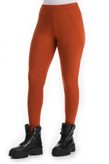 Ensfarvede leggings