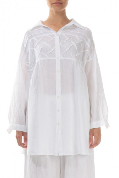 Skjorte bluse med bisser