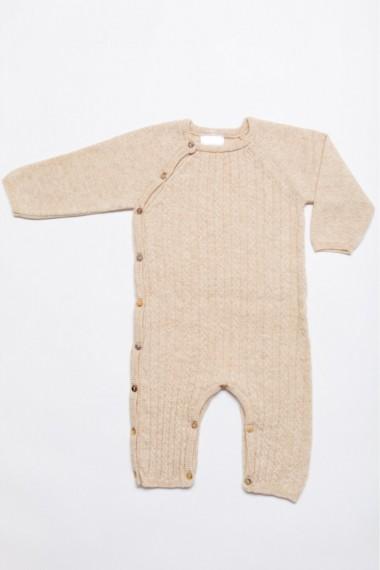 Baby sparkedragt i merino uld