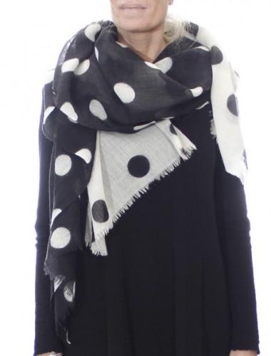 Tørklæde i 100% kogt uld